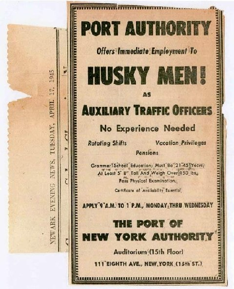 The First Port Authority Police:  A Few Husky Men! (1/6)