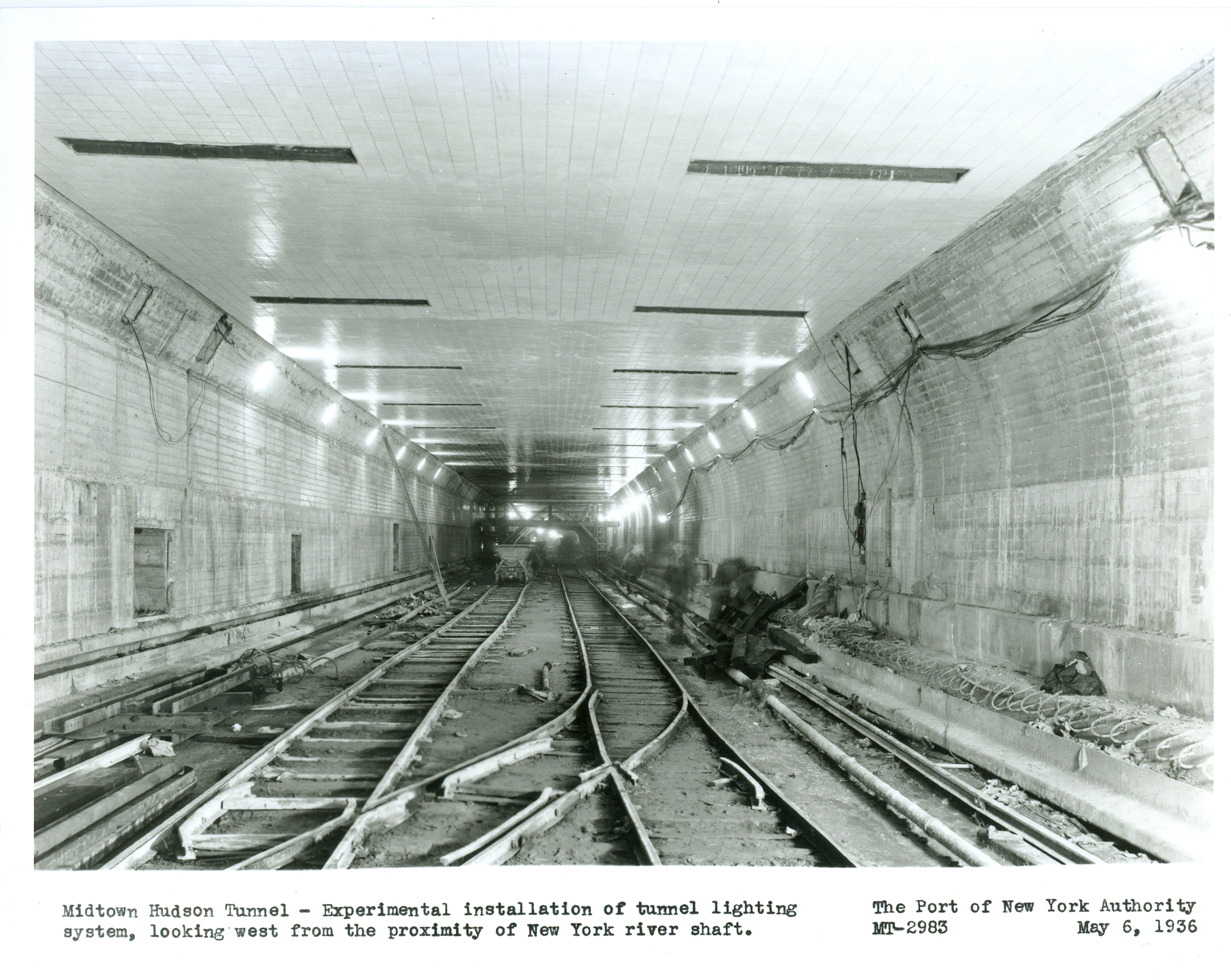 The Building Of The Lincoln Tunnel Titans Work Beneath