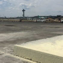 That's some thick new slab of concrete for the revamped Runway 4Left-22Right at John F. Kennedy International Airport. Though more expensive initially concrete runways are designed to last up to 40 years, compared with just seven to 15 years for more traditional asphalt runways.