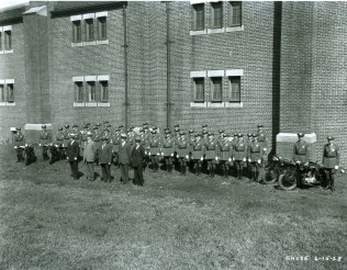 The first class of the Port Authority Police Department in 1928.
