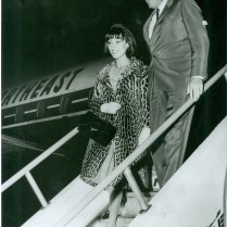 GREGORY PECK AND HIS WIFE VERONIQUE ARRIVE AT JFK