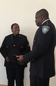 Sergeant Irving with Deputy Chief Raymond Bryan