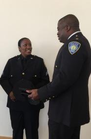 Sergeant Irving with Deputy Chief Raymond Bryan