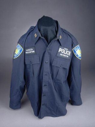 The uniform shirt that belonged to Captain Mazza