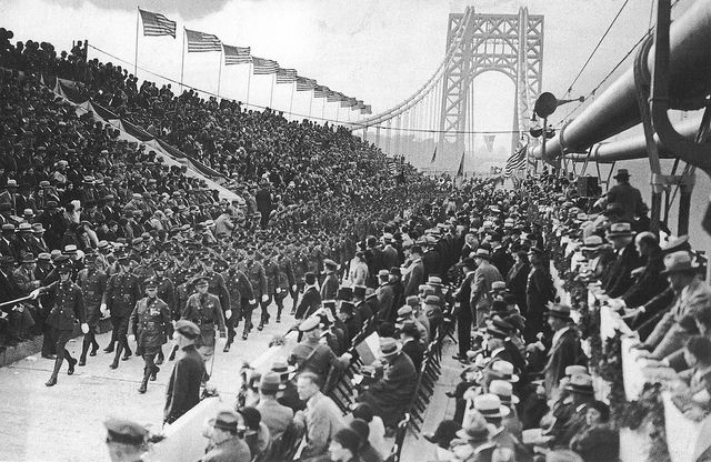 Opening Day 1931-Martin Solomon crossed the bridge on a horse named Rubio