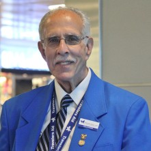 Travelers Aid JFK volunteer Larry Zeluck